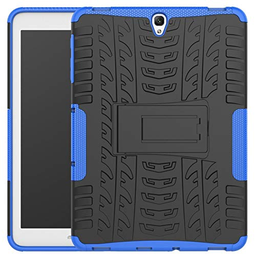 RZL PAD & TAB cases For Samsung Galaxy Tab S3, Tablet Shockproof Hybrid With Stand Cover Rugged Rubber Armor PC Back Cover For Samsung Galaxy Tab S3 T820 T825 9.7' (Color : Dark blue)