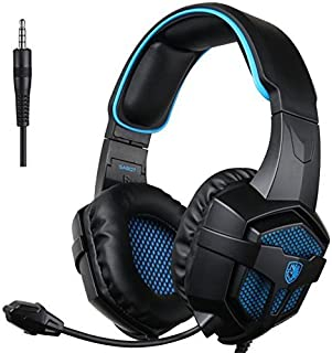 SADES SA807 Xbox One Gaming Headset Stereo Headset Over-Ear Gaming Headphones with Microphone Volume Control for PC PS4 Xb...