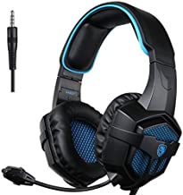 SADES 807 Multi-Platform Gaming Headset for Playstation 4 PS4 PC Computer Games, Noise Isolation Bass Surround Stereo Soft Earmuffs Over-Ear Headphones with Mic