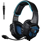 SADES SA807 Xbox One Gaming Headset Stereo Headset Over-Ear Gaming Headphones with Microphone Volume Control for PC PS4 XboxOne Mac Laptop Computer Smart Phones