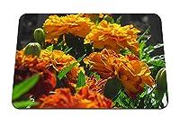 26cmx21cm マウスパッド (ベルベットリボン花明るいオレンジ花壇) パターンカスタムの マウスパッド