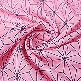 Chermyaa 布 生地 市松模様 巾着約 手芸 手作り ハンドメイド (麻の葉模様, 150cm*1m)