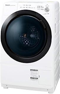 シャープ ドラム式 洗濯乾燥機 ヒーターセンサー乾燥 左開き(ヒンジ左) 洗濯7kg/乾燥3.5kg ホワイト系 幅640mm 奥行600mm DDインバーター搭載 2020年モデル ES-S7E-WL
