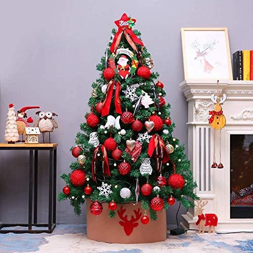 HACSYP Árbol de Navidad Artificial, Árbol de Navidad de 5 pies de Primera Calidad  Árboles de Navidad Artificiales pre Árbol Iluminado for Alquiler en Cubierta al Aire Libre Adornos de decoración