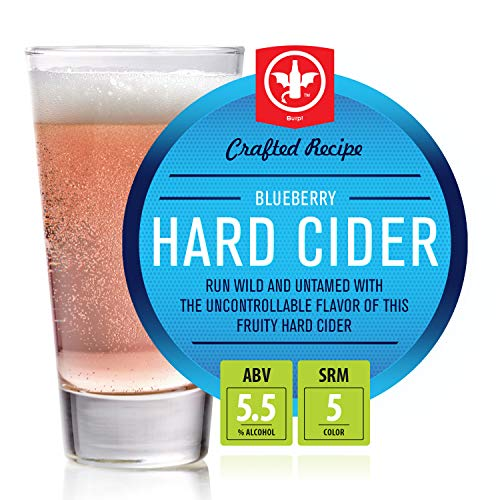 BrewDemon 2 Gal. Blueberry Hard Cider Recipe Kit - Makes a Wicked-Good 5.5% ABV Batch of Craft Brewed Hard Cider
