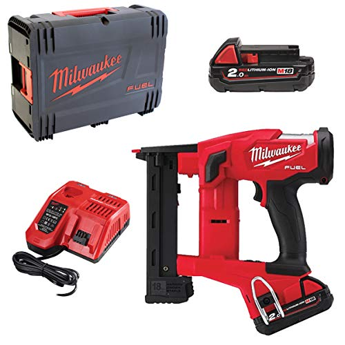 Milwaukee FUEL M18 FNCS18GS-202X Battery Stapler with 2 x 2.0 Ah Batteries and Charger in HD Box