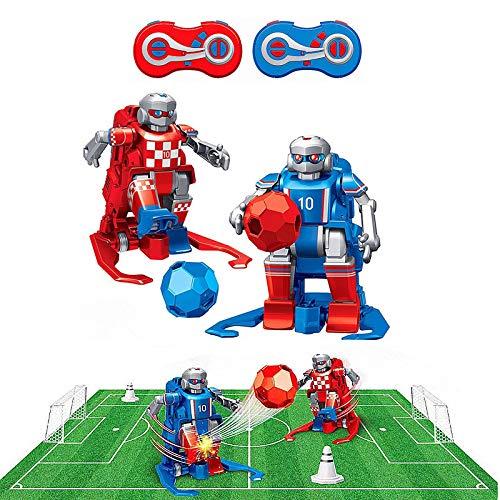 RC TECNIC Juego de Mesa Futbol Futbolin para Niños Robot Interactivo | Juguete Robots Teledirigidos Incluye Campo, Porterias, Mandos y Conos Entrenamiento, Regalo Navidad Cumpleaños