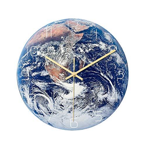 ZJ Reloj De Pared De Tierra Luminosa, Diseño Artístico De Personalidad, Reloj Simple, Sala De Estar única, Decoración De Pared para Dormitorio, Reloj De Pared(Color:Segundo)