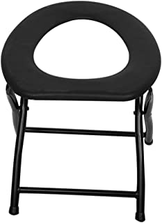 Qulable Portable Strengthened Foldable Toilet Chair Fishing Outdoor Activity Chair