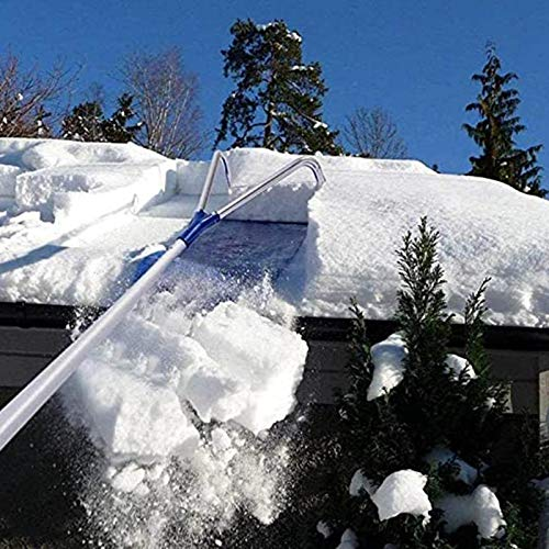 FACC Avalanche Snow Rake Deluxe, Snow Roof Rake Telescopic, Roof Rakes for Snow Removal Best Rating, with Adjustable Extended Handle, for Long or Low-pitched Roofs