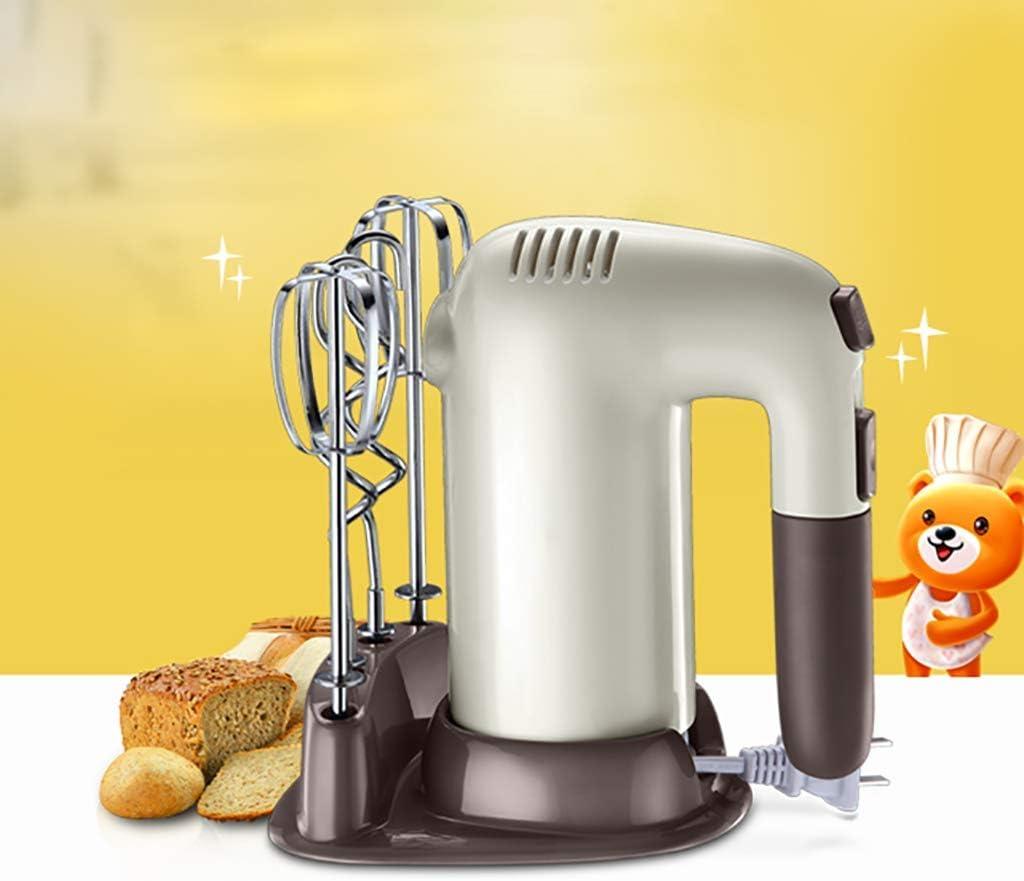 Mixeur à main sans acier JoinBuy.R 200W High Power Mélangeur électrique pour mélanger les œufs, crème, batterie, facile à manuel, Batteur à oeufs Marron (003) 002