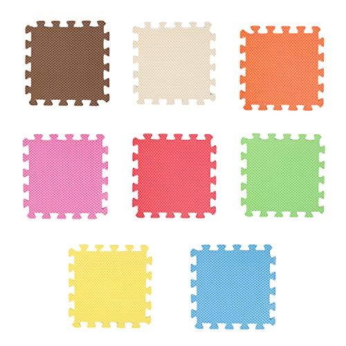 Puzzlematte,Puzzlematte Groß,8 stücke 30x30 cm Verschiedene Farben EVA-schaum Übung Spielen Puzzle Matten für Kinder Kleinkind Kinderzimmer Boden Liefert