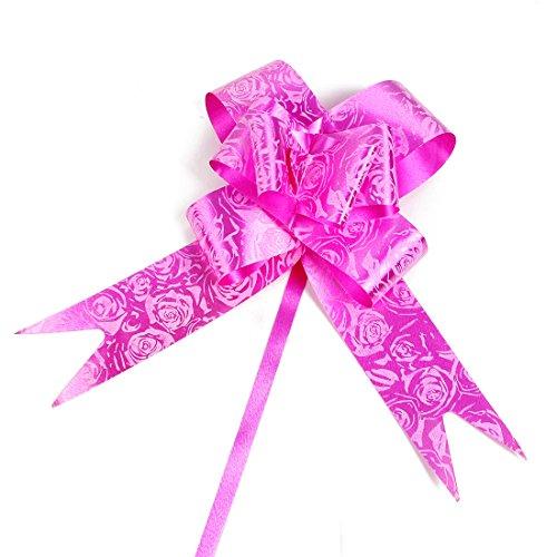 sourcing map Fête mariage Ruban Emballage Cadeau Tirer 3cm Large décor Bow 180pcs