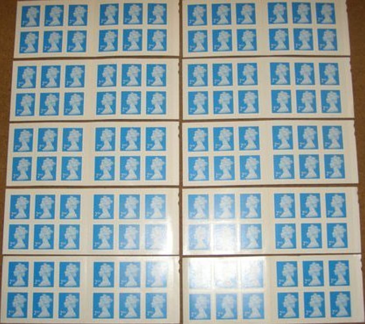 120 x 2nd Class Stamps - Royal Mail Postal Stamps Books - Self Adhesive Booklets Sheet by Royal Mail