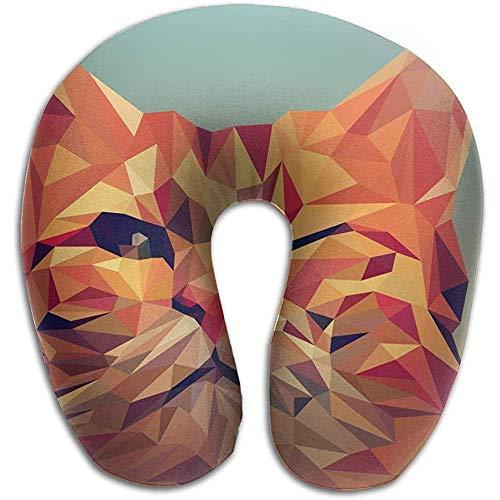 BK Creativity Cojín de Espalda, Gtrgh Animal Vector Art Polygon Illustration Super U Tipo Almohada de Cuello Almohada de Viaje al Aire Libre Alivio del Dolor de Cuello