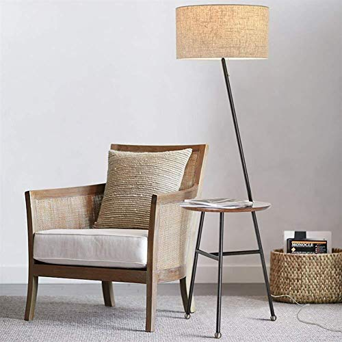 BJLWTQ Lámpara de pie, De pie luminarias estadounidenses minimalista moderna y creativa nórdicos Ronda de estanterías de hierro de pie luminarias de salón sofá Mesa de café Incluye bombilla, B Luz par