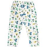 TOYANDONA Babyhose Reine Baumwolle Walk Trainingshose Waschbare Windelhose Kleinkindhose für Mädchen Jungen S