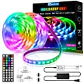 LED Strip Lights 32.8ft,Ehomful Color Changing 5050 RGB 300 LEDs 44KEY Remote Control LED Lights for Bedroom,Room,Kitchen,DIY Home &Party Christmas Decorations,L Shape and Gapless Connector Included