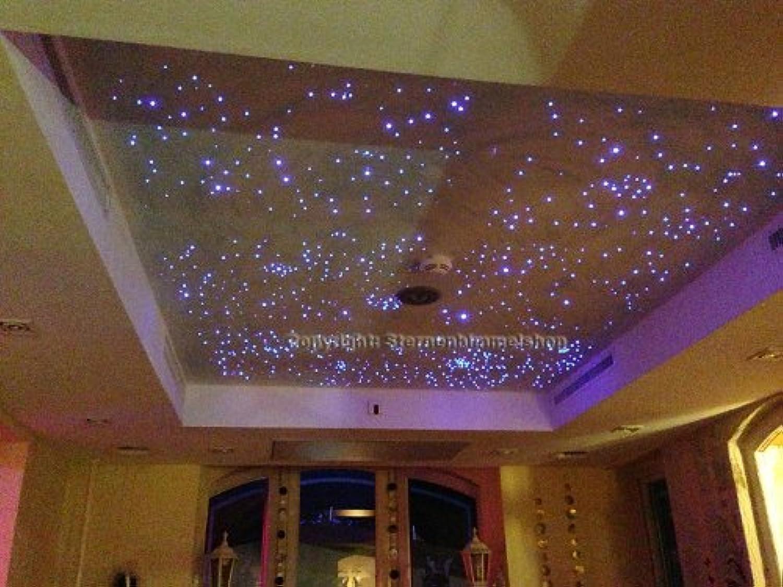 5 Watt Sternenhimmel LED Beleuchtung CGoldna Star Funk in Glasfaser Optik, 250 Lichtfasern Bausatz Einbau Set einbaufertig mit Kleber für Montage