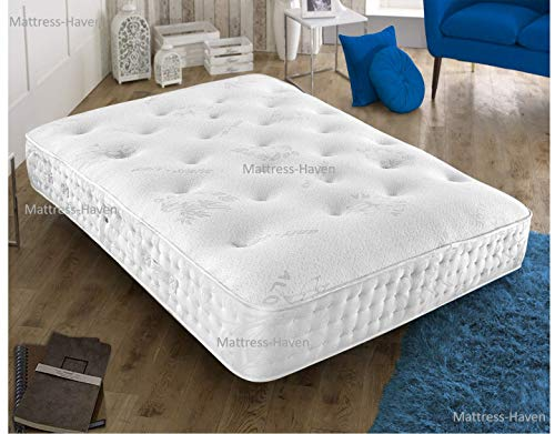 Mattress-Haven Quality Aloe Vera Tuffted Abala Pocket Spring Memory Foam Topped Mattress - 3000 Pocket Springs - Medium / Firm4FT6 - Double