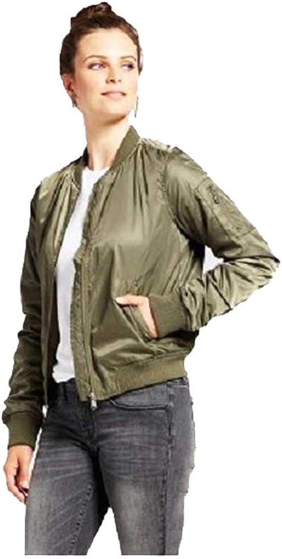 Xhilaration Junior Women Full Zip Bomber Jacket W Colored Lining