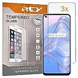 3X Protector de Pantalla para REALME V5 5G - OPPO A72 - OPPO A52 - REALME X7 Pro - REALME 7, Cristal Vidrio Templado Premium