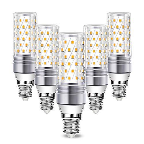 Wowatt 5er E14 LED Kaltweiss 16W LED E14 Glühbirne Maiskolben Mais Lampe Tageslichtweiß Ersetzt 120W Glühlampe 1600lm Kein Stroboskopeffekt 6000K AC 220V-240V 360° Abstrahwinkel LED Birnen 230V