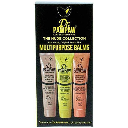 Dr. PAWPAW Multi-Purpose Balm | No Fragrance Balm, For Lips, Skin, Hair, Cuticles, Nails, and Beauty Finishing | 25 ml (Nude Collection, 1 Pack)