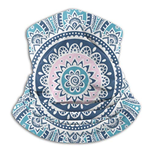 AEMAPE Neck Warmer- Neck Gaiter Tube, Ear Warmer Headband Indi-an Medallion Ornament Pattern Ethnic Mandala Versatility Scarf