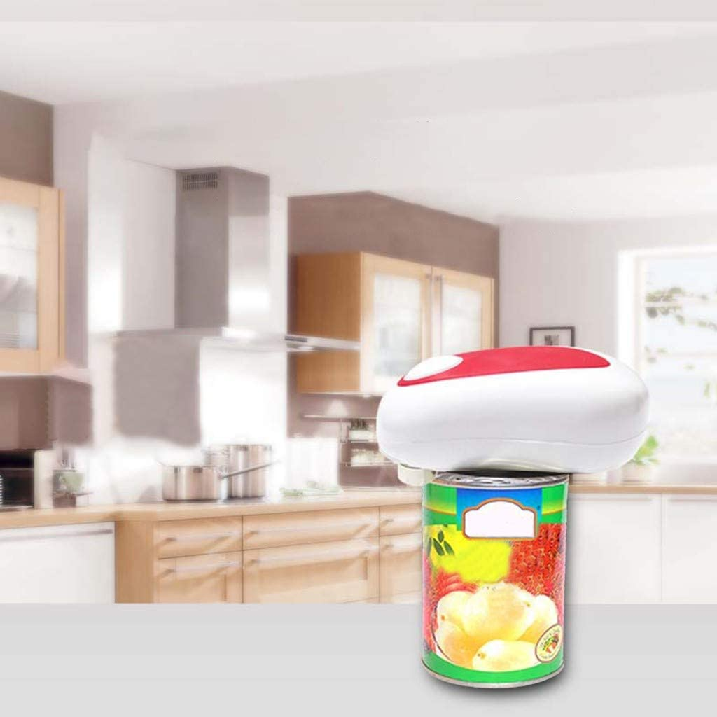 No Sharp Edge Food-Safe and Battery Operated Handheld Can Opener Kitchen Electric Can Opener Open Your Cans with A Simple Push of Button