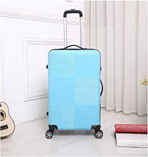 XIAO Suitcase for hard shell caster portable TSA lock mute wheel suitcase, color, dark grey, size (32 * 23 * 50) cm Happy day (Color : Light blue, Size : 15 * 10 * 20 inch)