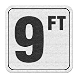Aquatic Custom Tile Vinyl 3M Adhesive Swimming Pool Deck Depth Marker 9 FT, 4 inch Font