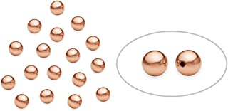 50 Pieces 14K Rose Gold Filled Round Beads 4 mm
