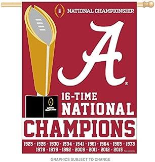 Alabama Crimson Tide 2015 National Champions Vertical Flag