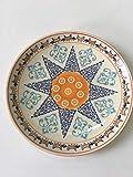 Plato de cerámica pintado a mano en relieve underglaze Color Home dim Sum Plate Western Dinner Plate Steak Plate Personality Vajilla 8 pulgadas Anise Star