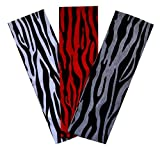 Funny Girl Designs Zebra Print Cotton Stretch Headbands Set of 3 for Fashion or Workout