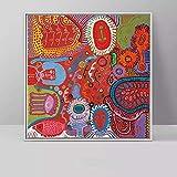 PSpXU Arte Abstracto Yayoi Kusama Obra de Arte Imágenes Lienzo Pintura Decorativa para el hogar Arte de Pared para Sala de Estar-Sin marco-20X20cm
