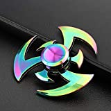 Fidget Hand Spinner Zinc Alloy Rainbow Metal Spiner Anti-Anxiety Toy for Spinners Focus