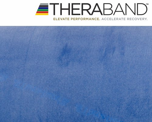 Original Thera-Band 2,5m blau + Original 24-seitiges Übungsbuch gratis