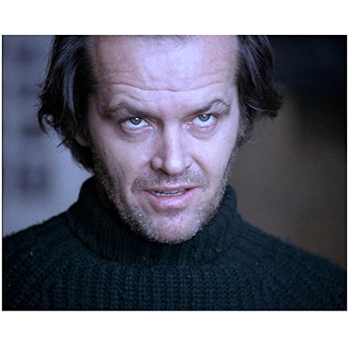 Jack Nicholson 8 Inch x 10 Inch Photo The Shining The Departed Chinatown Wearing Sweater Eyes Up Head Shot kn