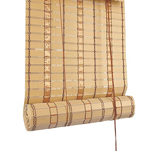 Roller Blind Japanese-style Gazebo Waterproof Roll Up Blinds, Beige PVC Outdoor Cabanas 90% Blackout Roller Shades, Light Filtering Sun Shades, 60/80/100/120/140cm Wide
