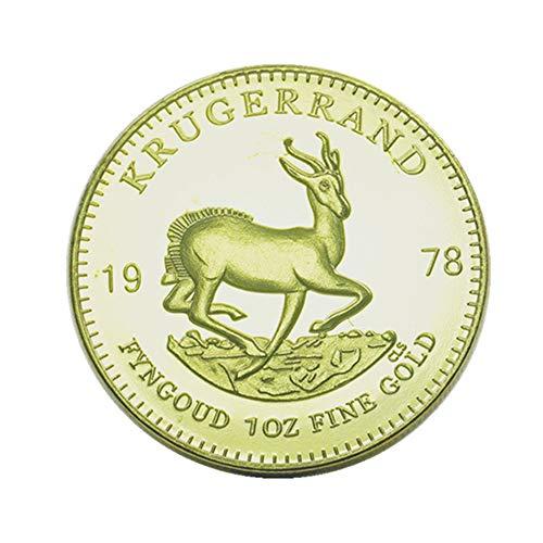 Xinyexinwang Moneda Conmemorativa 1967-2014 Moneda de Oro Kruger sudafricana Vintage Presidente Moneda Conmemorativa Colección de Regalos Moneda