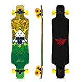 41 Inch Longboard Skateboard Complete Cruiser,The Original Artisan Maple Skateboard Cruiser for Cruising, Carving, Free-Style and Downhill (Monkey)