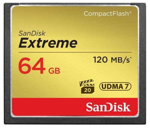 SanDisk SDCFXS-064G-X46 64 GB Extreme 120 MB/s UDMA 7 CompactFlash Memory Card