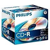 Caso Philips CD-R 80Min / 700 MB / 52X Joya (10 Disc)