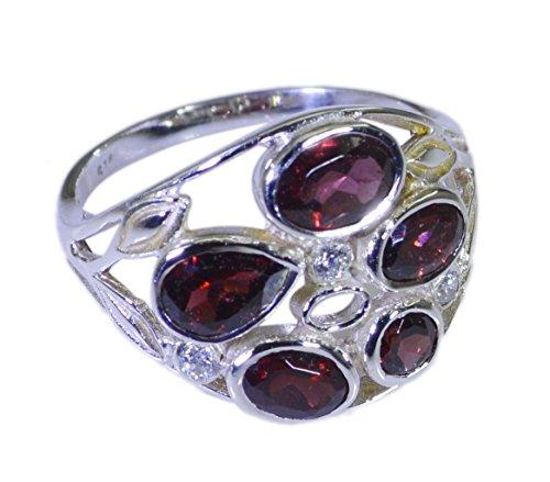925 Sterling Silber Brilliant echt rot Ring Geschenk 54 (17.2)