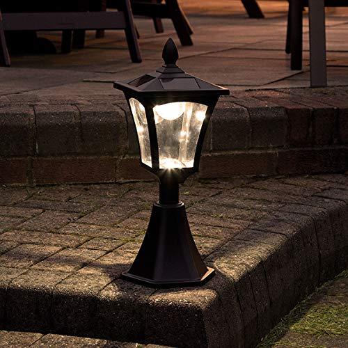 42cm klassische Außen Solar Leuchte, schwarz, LEDs in warmweiß von Festive Lights
