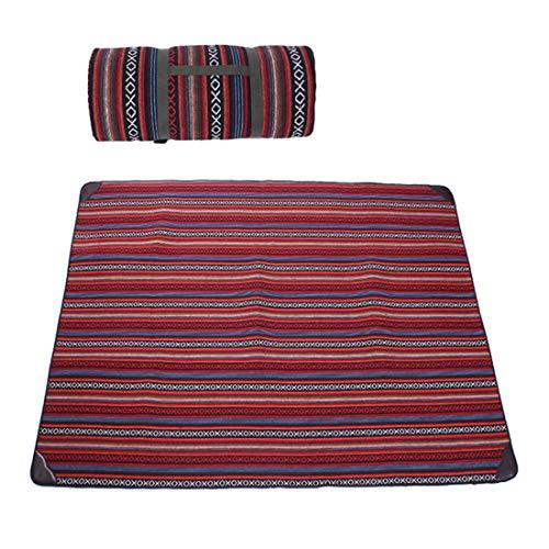 LHY TRAVEL Couverture De Pique-Nique ÉPaississement Moyen 200 * 145cm Tampon Anti-Humidité Tapis De Camping en Plein Air Tapis De Camping en Tissu Oxford Couverture De Plage,A