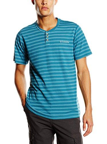 Columbia T-Shirt Lookout Point à Manches Courtes Henley pour Homme L Dark Turquoise
