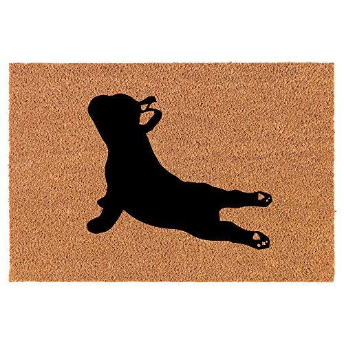 Coir Doormat Front Door Mat New Home Closing Housewarming Gift French Bulldog Yoga (30' x 18' Standard)